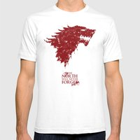 The North Will Never For… Mens Fitted Tee White SMALL