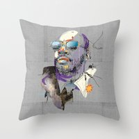 Throw Pillow featuring Isaac Hayes by Fitacola