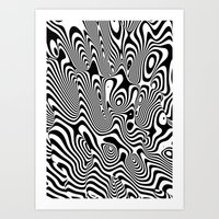 Trippy Background Art Print