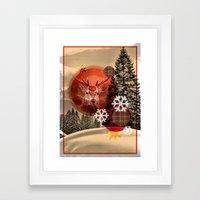 Christmas Scene. Framed Art Print