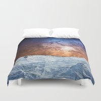 Cosmic Winter Landscape Duvet Cover