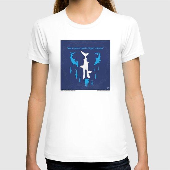 No216 My Sharknado minimal movie poster T-shirt