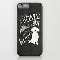 Home With Dog iPhone 6 Slim Case