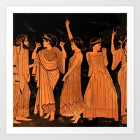 Club Life In Ancient Gre… Art Print