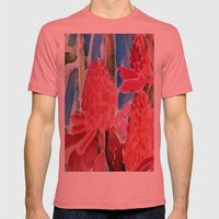 Red Ginger Mens Fitted Tee Pomegranate SMALL