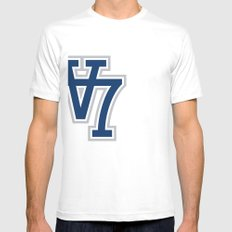 V7 - Darkside Mens Fitted Tee SMALL White