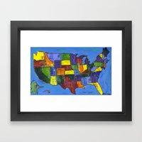 U.S.A. Framed Art Print