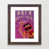 Animal, Drum Framed Art Print