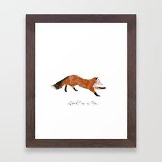 Quick as a Fox Framed Art Print