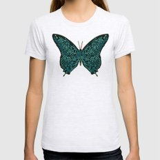 Mechanical Butterfly Womens Fitted Tee Ash Grey SMALL