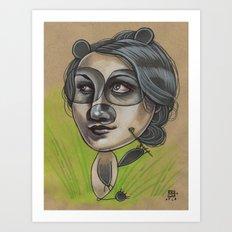 DAINTY PANDA Art Print