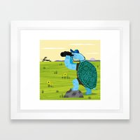 The Tortoise and The Hare Framed Art Print