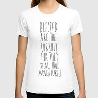 Curious Adventures Womens Fitted Tee White SMALL