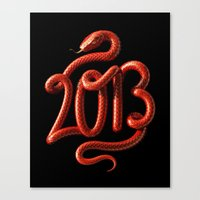 2013 - Year of the Snake Canvas Print