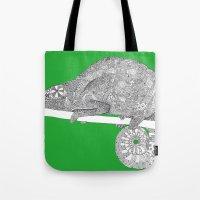 Green-Chameleon Tote Bag