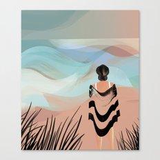 Woman on Beach #7 Canvas Print