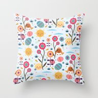 Easter Egg Hunt Throw Pillow