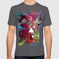 Colorful Mens Fitted Tee Asphalt SMALL
