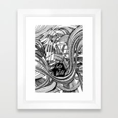 Into The Wild (b&w version) Framed Art Print