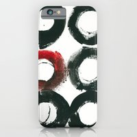 Black Circle Red Circle iPhone 6 Slim Case