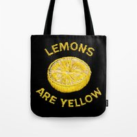 Lemons Are Yellow Tote Bag