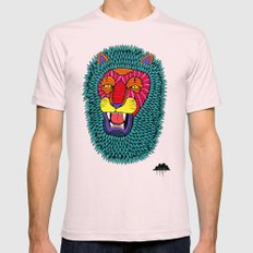 Magic Lion Mens Fitted Tee Light Pink SMALL