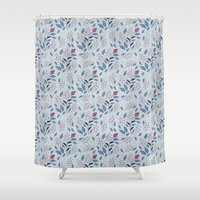 Purple Thistle Buds Shower Curtain