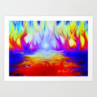 Flaming Forrest Art Print