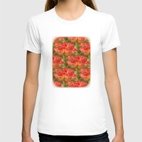 Roses Galore Womens Fitted Tee White SMALL