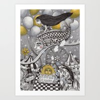 Roller Coaster Ride Art Print