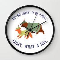 Robin Hood and Little John Wall Clock