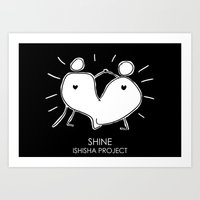 SHINE by ISHISHA PROJECT Art Print