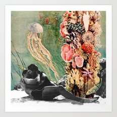 First Kiss Underwater Art Print