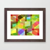Colorful Truth. Shuffle 1 Framed Art Print