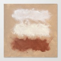 Rothko Inspired Spiced Berry Canyon Dusk 001 Canvas Print