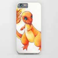 iPhone & iPod Case featuring Little Charming Salamander by KristinMillerArt