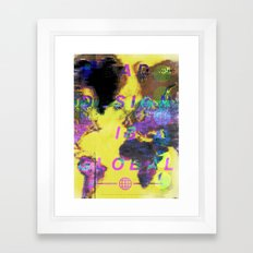 Bad design is global. Framed Art Print