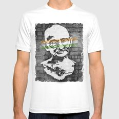 Gandhi Mens Fitted Tee SMALL White