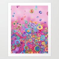 Inner Circle - Pink Art Print