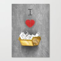 I Heart Skips Canvas Print