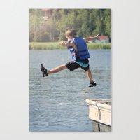 Harry Leaps! Canvas Print