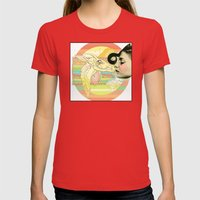 Luv El Chivo, La Cabra  Womens Fitted Tee Red SMALL