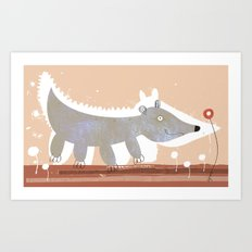 animal cepia Art Print