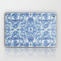 Pattern In Denim Blues O… Laptop & iPad Skin