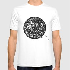 Circle Lady 1 Mens Fitted Tee White SMALL