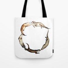 British Otter Wreath Tote Bag