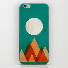 Full moon over Sahara desert iPhone & iPod Skin