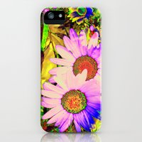 iPhone 5s & iPhone 5 Cases featuring Hippy Power Neon Flowers Series by RokinRonda