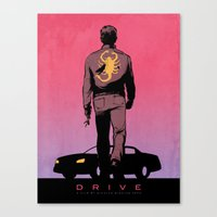 DRIVE Poster Canvas Print