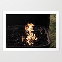 Seahorse Flame Art Print